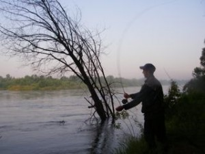 Casting on the Drava