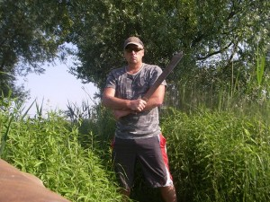 Down at the Drava with my Machete