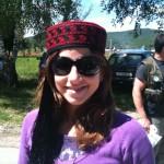 Annamaria wears the traditional Croatian hat