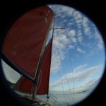 Under sail...