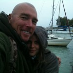 Capt. Sexyloops and First Mate Zsofia. It's raining! Again!