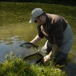 Trev with a buggered Grayling.