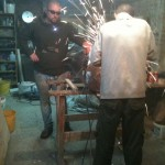 More welding - Paul helps.
