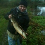 Lee with a nice river pike.