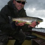 This trout took a dry as the wind temporarily dropped (one from the flyswap 2 years ago..)