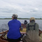 David Creane and myself rowing from Annaghdown to Knockferry on Lough Corrib. The impellor failed in Dad's 15hp yamaha. 1hr50mins later we were happy to see the van!