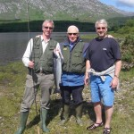 Andrew, Harry and Peter Killeen, Father and sons. One grilse for the table and one returned. I drove Peter's Porshe to Roundstone for lunch. This was a day when its fun to be a guide!