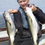 2 of the 3 fish.. I remember the excitment of hooking a fish at that age. It hasn't changed!!
