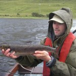 A small, dark september grilse from Kylemore Lough!