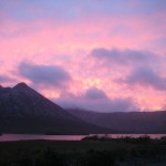 Sunset over Lough Inagh on september 30th..