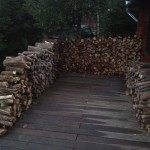 So much wood I've used it to build walls.