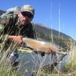 Rainbow number 1. My best fish of the day on my 21year fly-fishing anniversary!