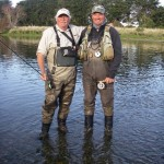 Bob Wyatt and Chris Dore.. Angling legends!