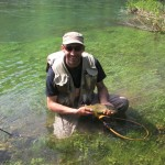 Nice fish on a mayfly.