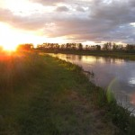 Sunset over Gacka River