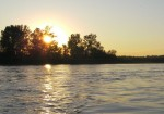 Sunset over Drava.