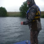 Cold and wet on Saturday morning.. Plenty fish to be caught though! All hard fighting and fully mended after spawning.