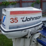 1978 35HP Johnson engine. As old as myself!
