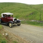8 vintage cars in the middle of nowhere!