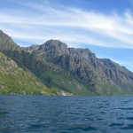 Last Sunday fishing with Mike Bonn on Lake Wakitipu...