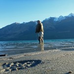 Fishing close to the Glenorchy township..