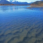 The Rees River mouth, Glenorchy.