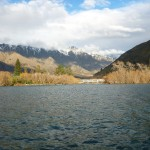 The Kawarau outflow and the Remarkables in the background..