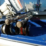 3 rods rigged to waste no time covering ranging depths..