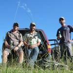 3 happy anglers...