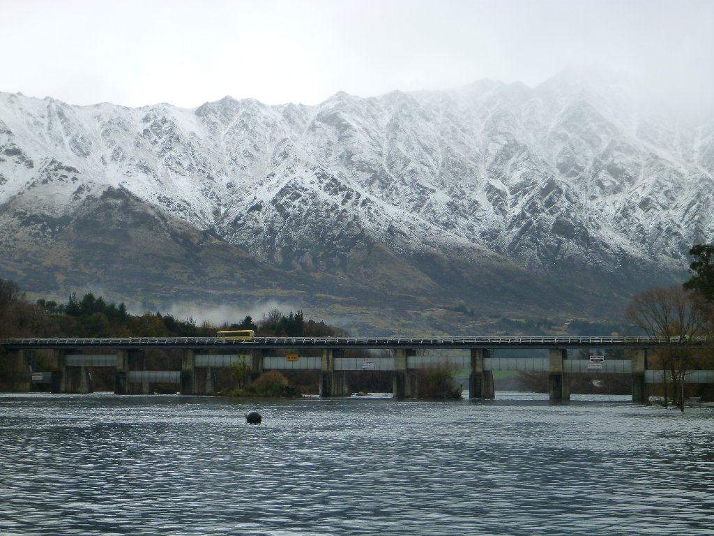 Snow on the Remarkables on day 2!