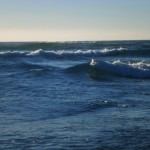 Some lumpy swells. One always needs to be aware of the water. Never turn your back to it!