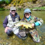 First pool! Iza's second fish on fly. The fish took a well presented nymph under a dry.