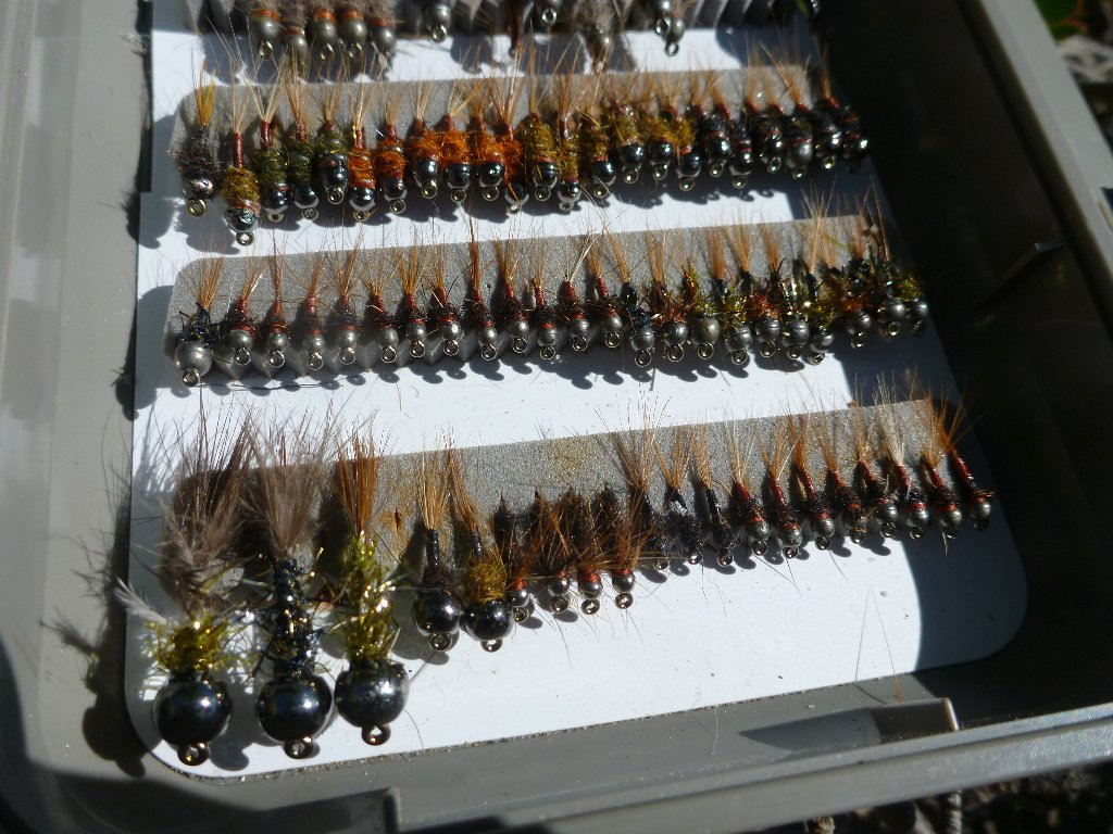 I've been pretty efficient on the vise lately! I have a half decent range of nymphs again..