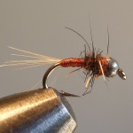 This is my lightly weighted size 16. If I had only one choice of colour for this fly it would be black or dark..