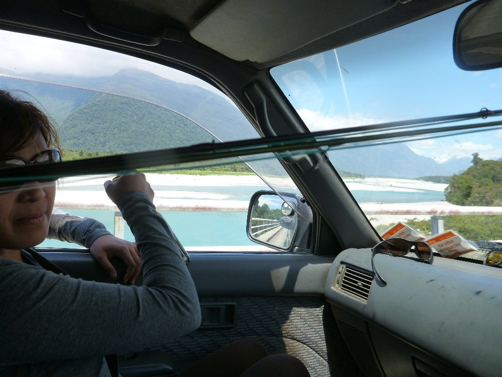 The view from the truck on the way to have lunch at the Cray Pot at Jackson Bay.