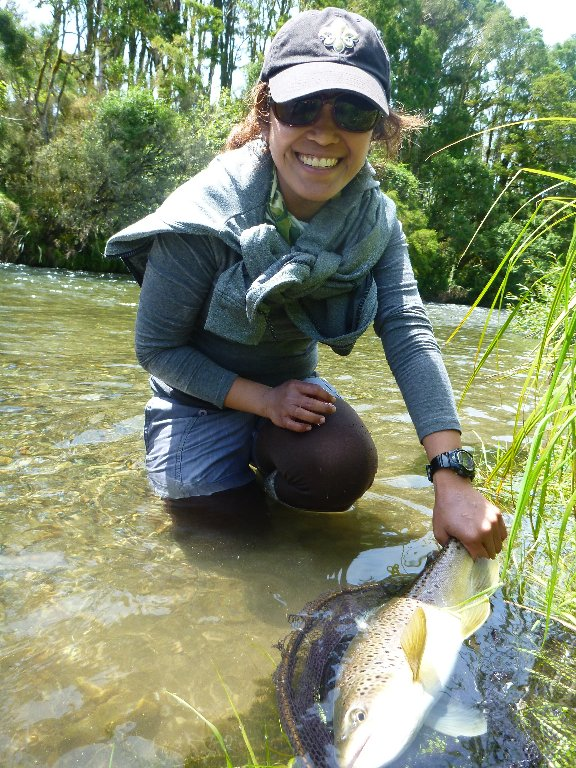 A solid trout for Iza..