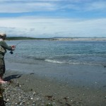 Barefoot flyfishing is not something I've done very often! Into a kahawai here...