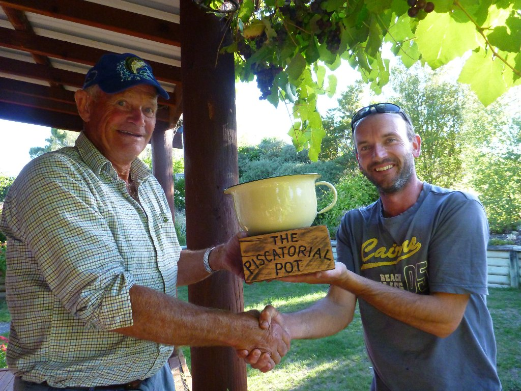 """Colin takes the first """"Piscatorial Pot"""" victory. A very deserving winner he is."""