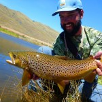 The climb was worth it for Jeff.. In an anglers lifetime, he's not likely to catch too many trout as truly stunning as this.