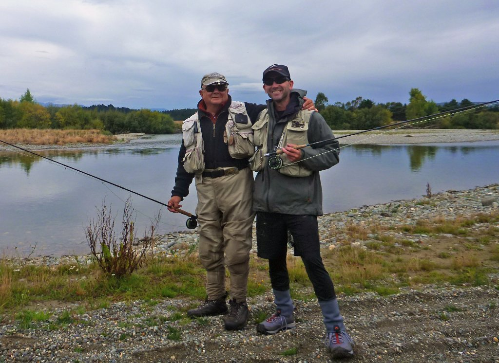 Me and the man I've known in NZ for the longest time, Bob Toffler. A legend in my book! Come what may he returns every year to fish the rivers around his other home in Balfour.