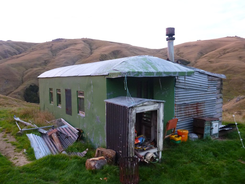 Home for the night. A tram car converted into a back-country farm cabin. Luxury!