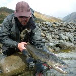 "..and a 7lber for me to bring down the average size! An important fish to break the ""schnide"" though!"
