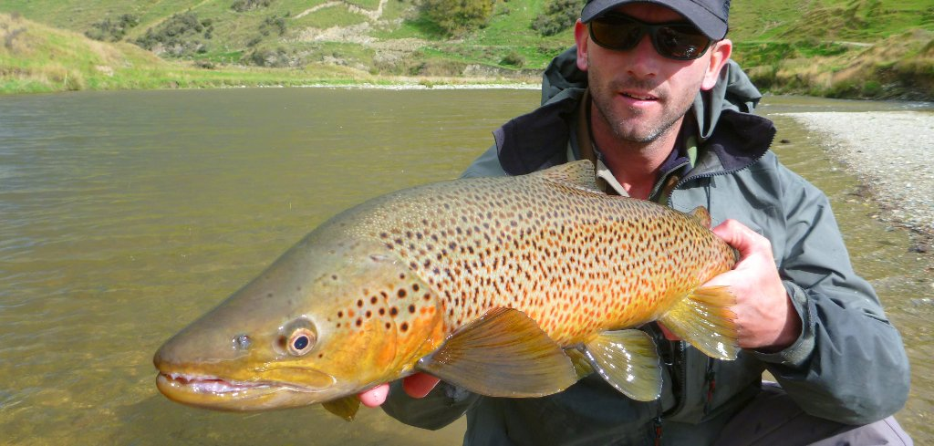 A large Late season fish can be absolutly stunning! This one ate a blind fished streamer in very coloured water. A great end to the day!