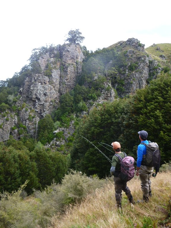 We regularly had to climb out of the gorge to make the going upriver a little easier.