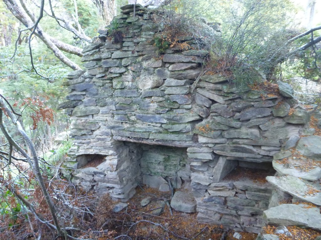 An old gold miners hut.. I'd like to light a fire in the fireplace and spend the night in it!
