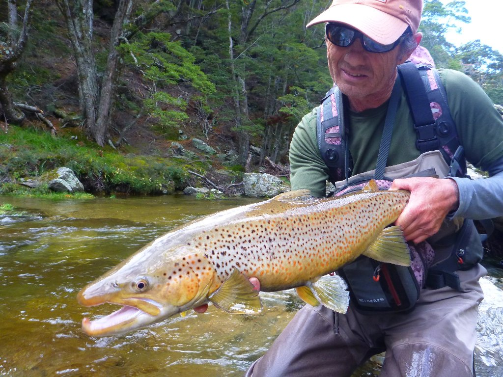 """A cracking late season fish for Robbie Mcphee. I love the """"W"""" spot!"""