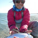 The fishing was extremely slow for me on the fly but Iza did well with soft plastics..