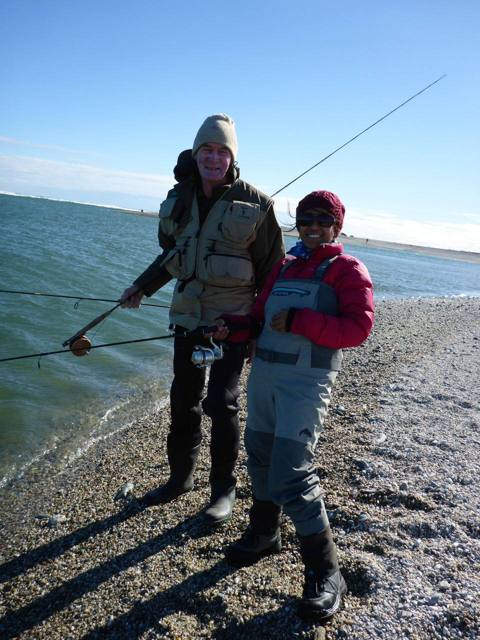 Allister and Iza.. Allister is also in the Wakitipu Anglers Club. We all had a west coast meet last weekend.