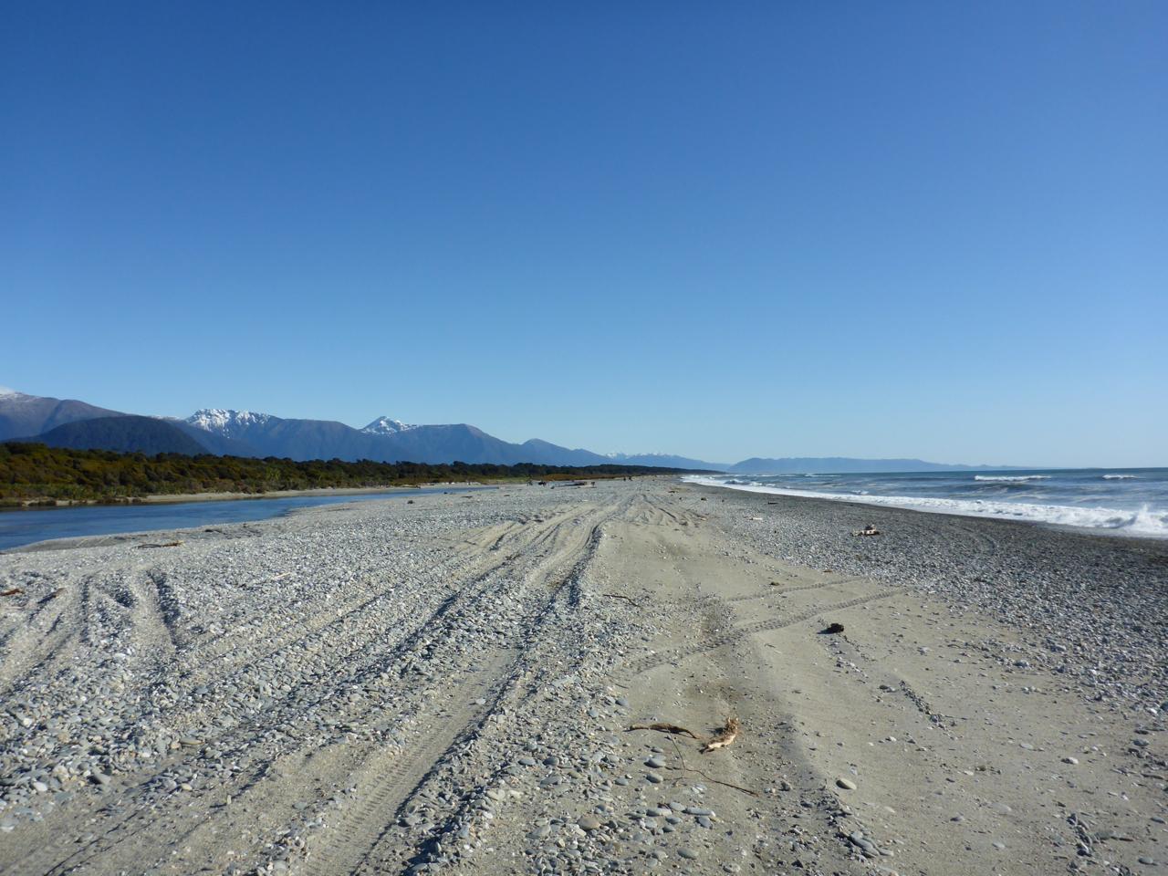 A coastal beach..
