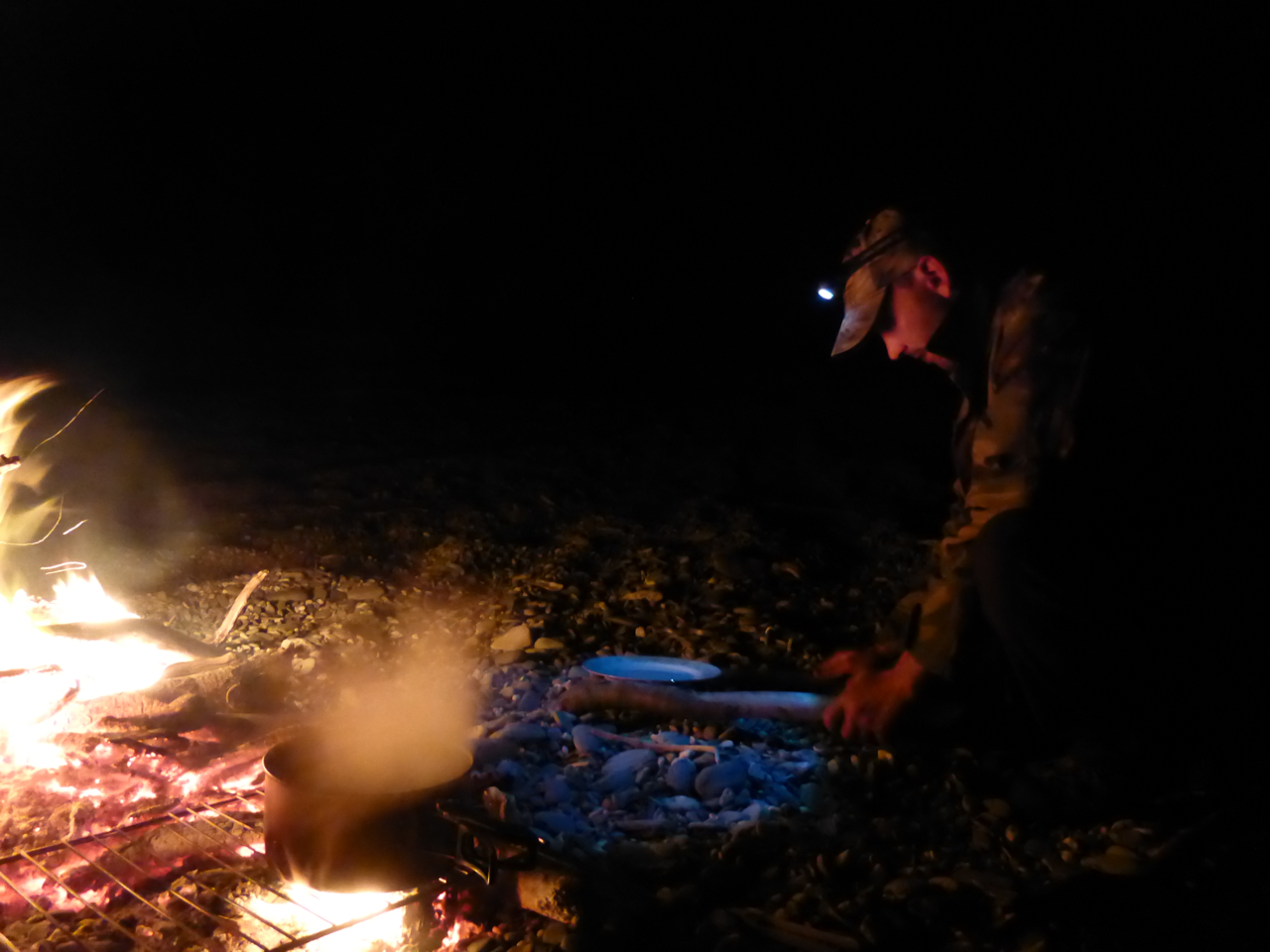 Campfire cooking.. No need for a gas stove!